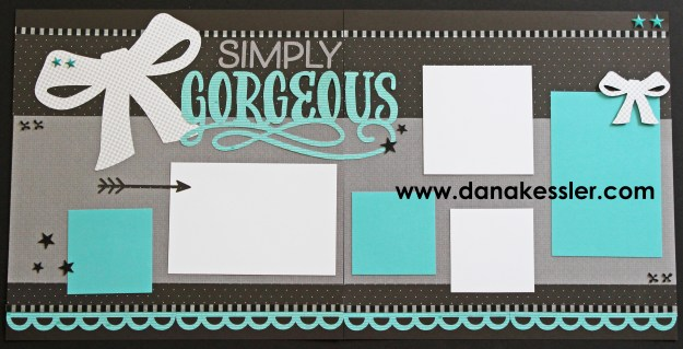 Jeepers Creepers Gorgeous Wedding Prom Homecoming Two Page Scrapbook Layout #ctmhjeeperscreeepers #scrapbooking #pagekits #halloween #cricut