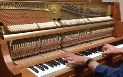 How a Vertical Piano Action Works