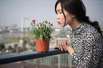 woman plant