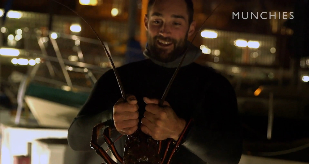 Lobster luke hunter and gatherer series from vice for Fish count dana point