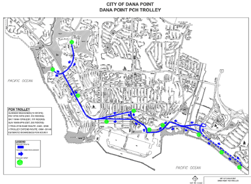 Pacific Coast Trolley Route