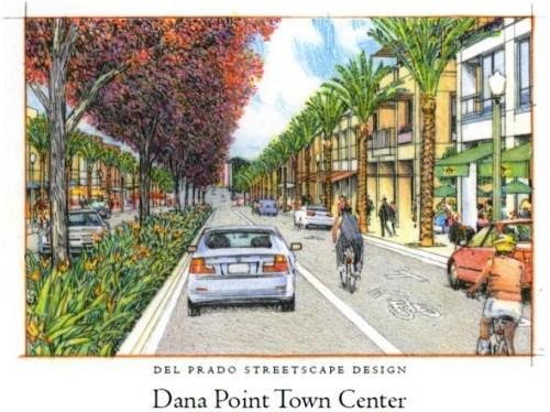 Rendering of Del Prado Avenue. Courtesy of the city of Dana Point