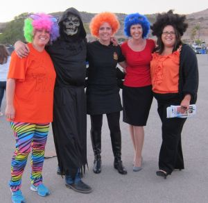 Family Readiness Officers with the 5th Marine Regiment are decked out in Halloween garb for a regiment-wide holiday event Wednesday, October 30. Courtesy photo