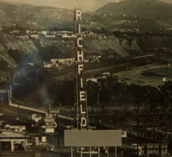 "A beacon that sat atop the Pacific Coast Highway located ""Richfield"" tower for more than 40 years before its dismantling in 1971 was recently donated to the Dana Point Historical Society. Photo courtesy of the Dana Point Historical Society"