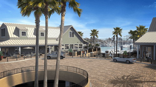 Recreational boaters appealed the Dana Point Planning Commission's decision granting the county permission to demolish 13 buildings at the Dana Point Harbor and rebuild seven structures, a park and two-level parking structure. The City Council heard arguments Tuesday but ultimately upheld the revitalization plans in a unanimous vote. Rendering courtesy of Orange County