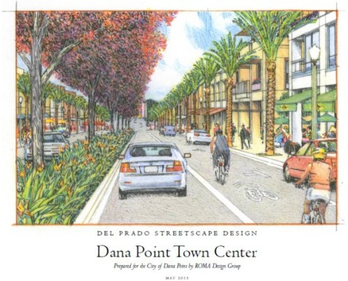 In a 3-2 vote June 17, the Dana Point City Council approved allocating $7.7 million to phase two of Lantern District street improvements along Del Prado Avenue. The rendering pictured shows what the city hopes the street will look like upon build out. Courtesy rendering