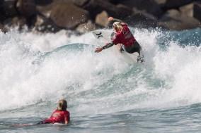 Kirra Pinkerton of San Clemente took top honors in Girls U16 at the Surfing America Prime season kick-off, Aug. 9-10 at Camp Pendleton, DMJs. Photo: Jack McDaniel