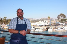 Chef John Cuevas is the director of culinary at the new Waterman's Harbor restaurant. Photo: Andrea Swayne