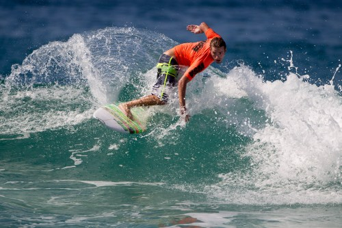 Randy Gilkerson of San Clemente won the Open Men division at the WSA event No. 3, Saturday at Mission Beach. Photo: Jack McDaniel