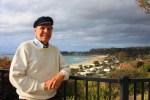 Mayor Carlos Olvera surveys the view of Dana Point from Louise Leyden Park in Capistrano Beach. Photo: Andrea Swayne