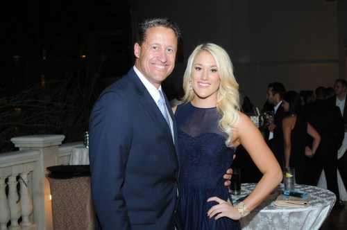 Retired NFL Pro-Bowl quarterback Jim Everett, shown here with his daughter Ashley, was a special guest at this year's Ante Up for Autism fundraiser for TACA at the St. Regis. Photo: Courtesy