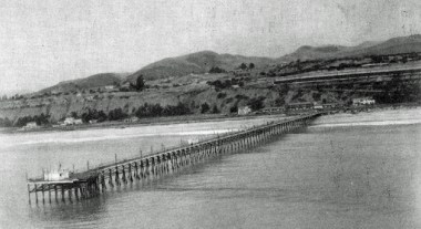 Capistrano Beach Pier in 1949, at the height of its fishing history. Photo: Courtesy of the Carlos N. Olvera Collection