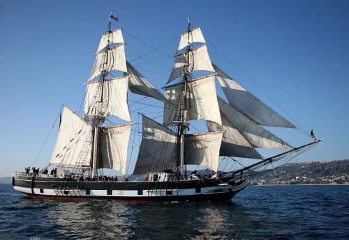 The brig Pilgrim. Photo: Gibby/Zone57