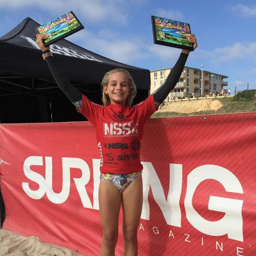 Samantha Sibley of San Clemente started the NSSA Explorer season with a win in Women on Aug. 22 and Girls on Aug. 23. Photo: Janice Aragon