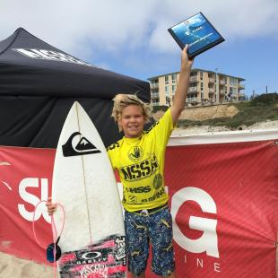 Taj Lindblad of San Clemente won both NSSA Explorer season-opening events No. 1 and No. 2 at Crystal Pier, Aug. 22 and 23. Photo: Janice Aragon