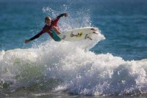 Ethan Mudge of Capistrano Beach took an impressive victory in Boys U16 at WSA event No. 2, Sunday, Sept. 20 in Ventura. Photo: Jack McDaniel