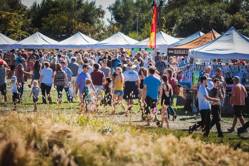 Festival-goers enjoy last year's Orange County Food, Wine and Music Festival. This year's event will be held on June 25. Photo: Courtesy