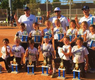 The Capo Girls Softball 8U All-Stars won the Frehnch Valley Wine Country Classic on May 28. Photo: Courtesy