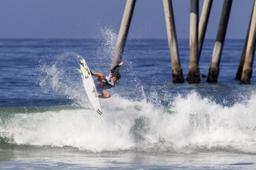 Griffin Colapinto: Griffin Colapinto of San Clemente took first in the fourth heat of the Vans US Open of Surfing Junior Men's division and continued to compete on Wednesday. Photo: Courtesy of World Surf League