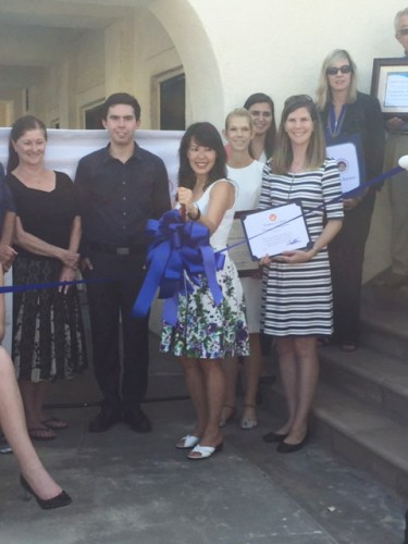 Pearl Zimmerman, MD, MPH Incorporated had a ribbon cutting ceremony with the Dana Point Chamber of Commerce to officially open the practice. Photo: Courtesy of the Dana Point Chamber of Commerce