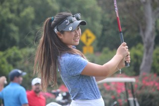 Senior Joan Soewondo will lead a young Dolphins golf team in 2016. Photo: Steve Breazeale