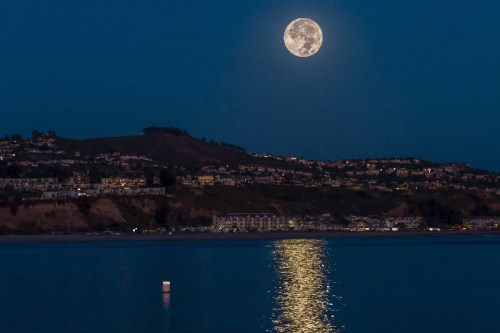 A supermoon was seen over Dana Point on Monday, Nov.14. Another supermoon like this one isn't projected to happen again until 2034. Photo: Courtesy of Jim Reed