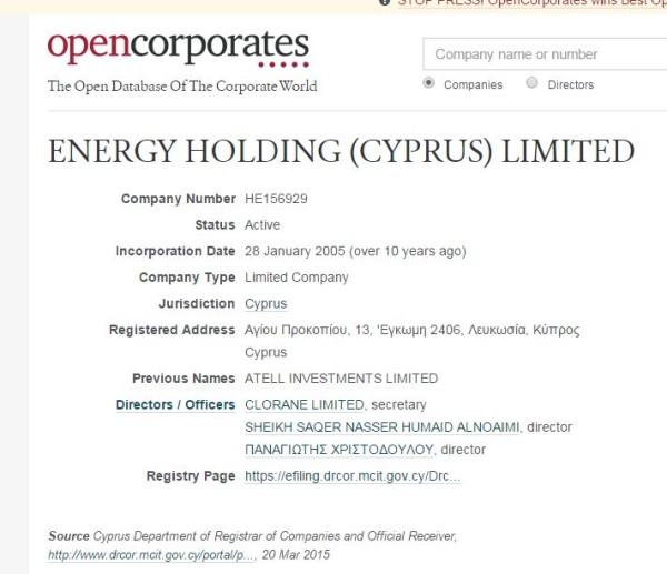 energy holding cyprus ltd