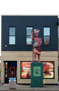 Cherokee IndianThis giant Cherokee Indian gets his name from the street over which he watches.
