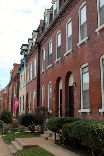 Benton Park ArchitectureOne of the many rows on beautiful homes in Benton Park
