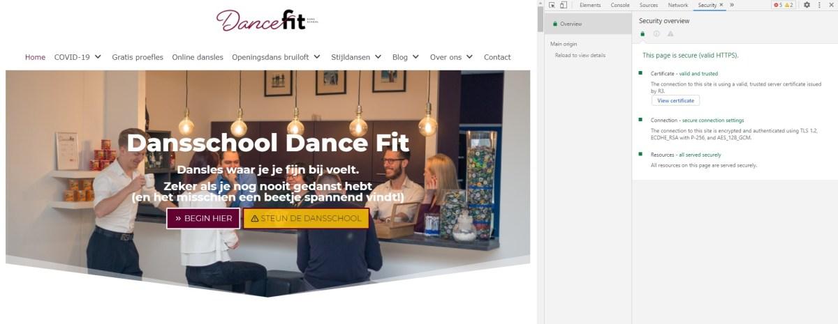 2021 Contact met Dansschool Dance Fit is veilig via SSL