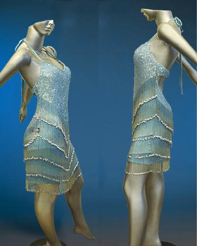 Beaded Fringe Latin Dance Costume