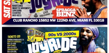 "Sept 2nd Event : 90's VS 2000 – Spragga Benz – ""Joy Ride"""