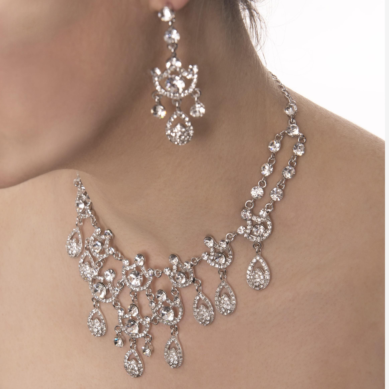 Swarovski Crystal Swarovski Crystal 9 Teardrop Necklace