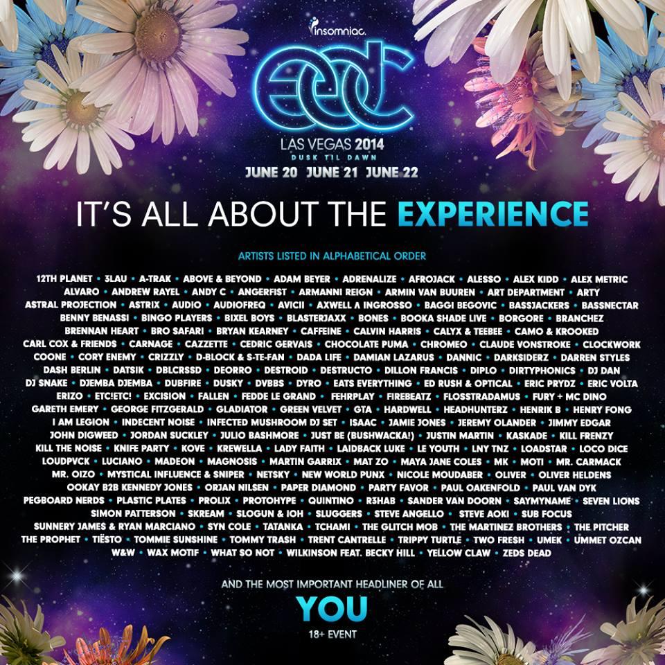 edc 2014 lineup