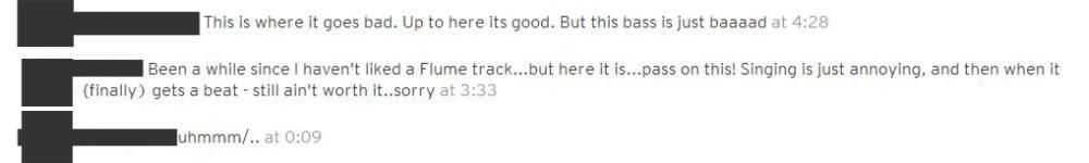 Anonymous Flume - Arcade Fire SoundCloud Comments