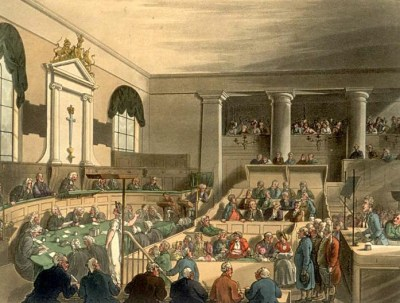 A trial at the Old Bailey, c.1808