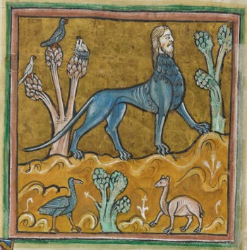 A manticore, from the Rochester Bestiary