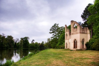 The 'ruined abbey' at Painshill. A reflection of the growing interest in the Gothic.