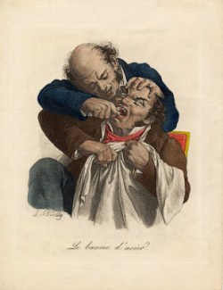 Tooth extraction in the early 19th century