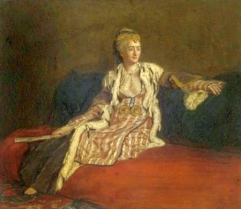 Mary Wortley Montagu, pictured in Turkish dress in 1756