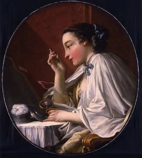 Painted faces: cosmetics in the 18th century
