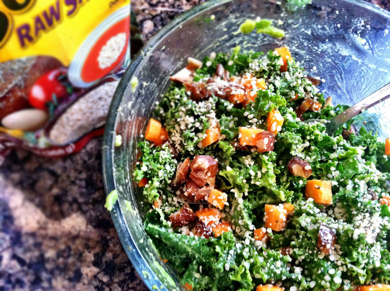 Kale avocado hemp seed salad