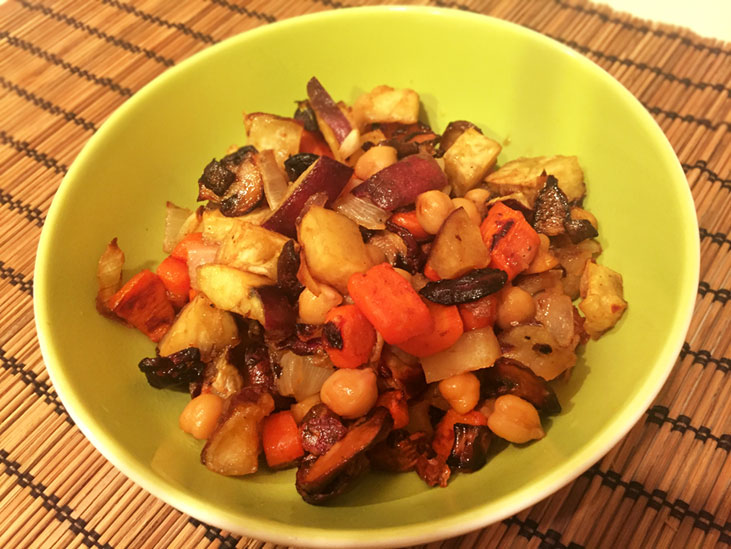 Sweet and spicy roasted veggie recipe