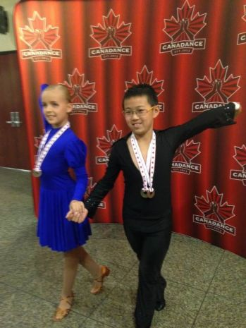 Jason and Alessia were places 1st and 2nd in Bronze Juvenile Latin category