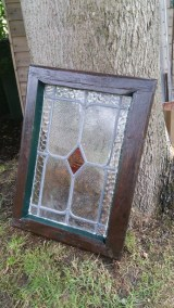A completed and restored stained glass window