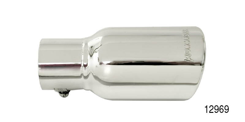 flowmaster chevy rolled edge double walled exhaust tip 2 1 4
