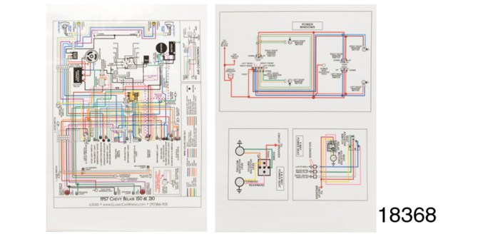1957 chevy laminiated wiring diagram color