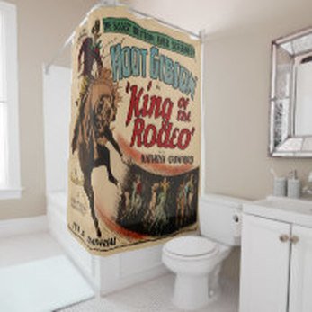 western shower curtains dancing