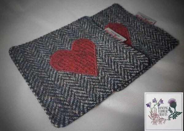 Harris Tweed coaster: Love