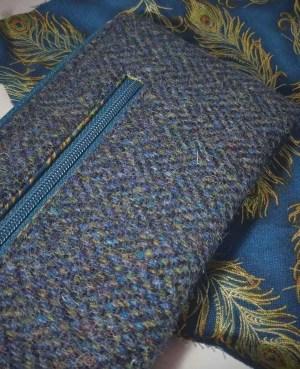 Harris Tweed purse: Peacock